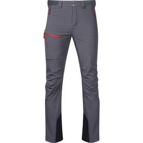 Bergans Breheimen Spodnie Softshell Mężczyźni, solid dark grey/red sand